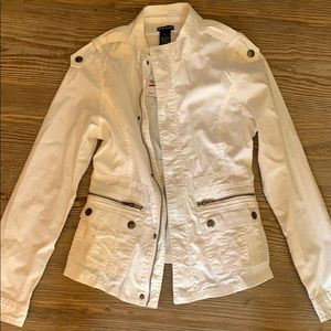 Wet Seal white utility jacket
